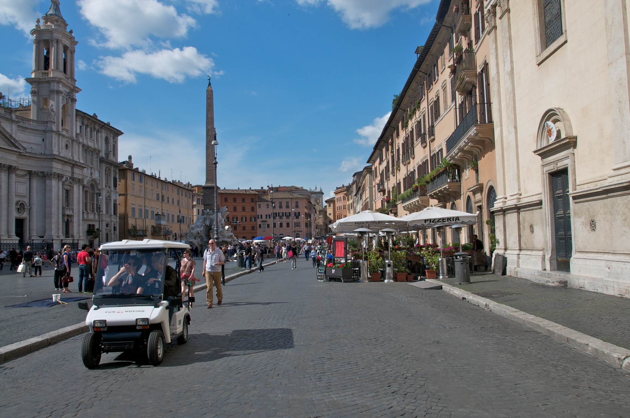Golf cart tours in Rome